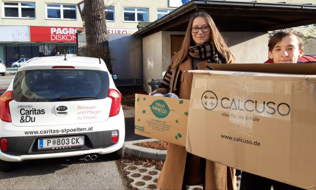 Spendenübergabe Caritas klein